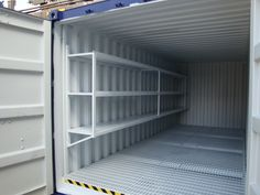 Steel shelving inside a 20ft #chemicalstore container for more info: T: 0800 121 7388