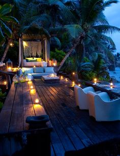 Probably the most exclusive island resort in the Seychelles, and maybe the world, the magnificent North Island is a genuine tropical paradise with all the comforts of home and the opulence of a full service hotel. Romantic Places, Beautiful Places, Romantic Night, Beautiful Hotels, The Places Youll Go, Places To Go, Interior Tropical, Tropical Paradise, Tropical Style