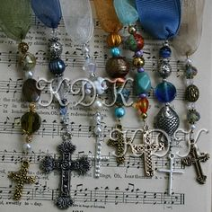 Read some feedback received for this tutorial: Easy to understand, very detailed, Lovely thanks so much, and Well written! This four-page tutorial explains how to make beaded bookmarks like the ones in the photos. A list of supplies and tools is included. Step-by-step instructions are