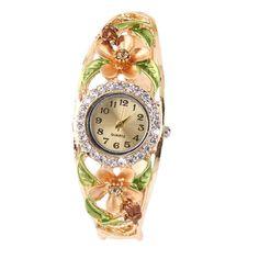 Round Type Womens Bracelet Lady Quartz Wrist Watches 5 Colors Optional with pink/purple pink/gold/purple/blue 5 colors