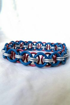 Check out this item in my Etsy shop https://www.etsy.com/listing/241622944/captain-america-themed-stretchy-bracelet