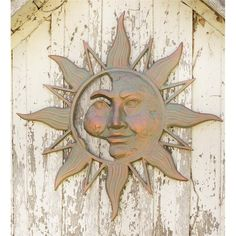 Mysterious Sunface | Metal Sun Wall Art | Wind & Weather