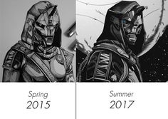 Drawing Progression: Cayde-6 Destiny Cayde 6, Destiny Quotes, Destiny Bungie, King On Throne, Pop Surrealism, Paladin, Pose Reference, Drawing Tips, Cartoon Drawings