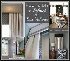 Tutorial for How to DIY a Pelmet or Box Valance.  {The Creativity Exchange}