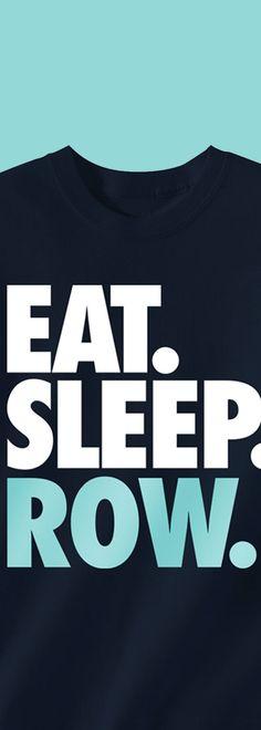 5a374dfc0 Crew T-Shirt Long Sleeve Eat. Sleep. Row.