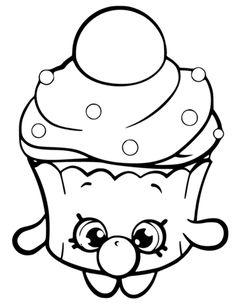Bubble Cupcake Shopkin Målarbok