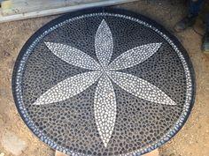 Pebble mosaic designed by Mosaic Design.