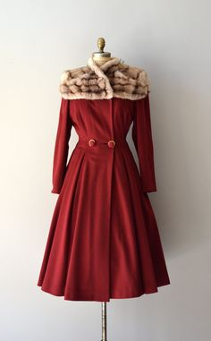 Million Dollar Baby vintage 1940s coat 40s red by DearGolden