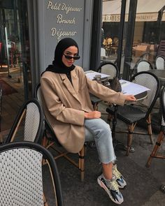 Ideas fashion hijab summer outfit ideas for 2019 6 Modern Hijab Fashion, Street Hijab Fashion, Muslim Fashion, Modest Fashion, Boho Fashion, Style Fashion, Casual Hijab Outfit, Hijab Chic, Ootd Hijab