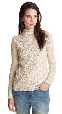 Esprit / pullover med alpakauld