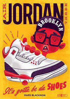 Large Format limited edition Air Jordan III art print.