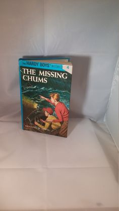 The Missing Chums Mystery The Hardy Boys, Franklin W Dixon Hardy Boys book, hardback Hardy Boys mystery book, Vintage Hardy Boys, blue book by FlowerChildTrends on Etsy