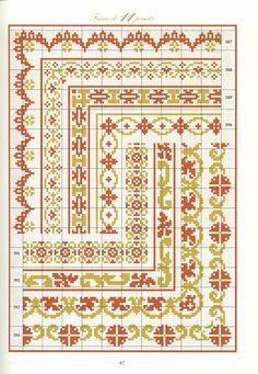 Cross Stitch Boarders, Cross Stitch Charts, Cross Stitch Designs, Cross Stitching, Cross Stitch Embroidery, Seed Bead Patterns, Perler Patterns, Weaving Patterns, Cross Stitch Patterns