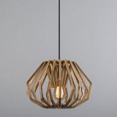 Lámpara colgante MIRLO madera #interiorismo #decoracion #iluminacion