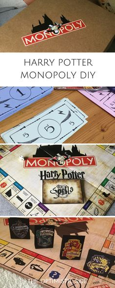 Regalo DIY - Harry Potter Monopoly para amigo, amiga, novio, novia, fans de harry potter, potterheads. Incluye printables gratuitos, fácil y barato. Cartas, tablero,fichas, billetes, etc. - THE OPTIMISTIC SIDE
