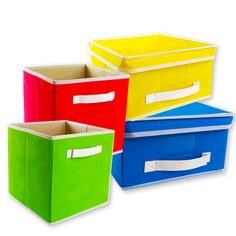 Brightly Colored Soft Storage Cubes. Perfect For Dorm Rooms Or Cluttered  Spaces.