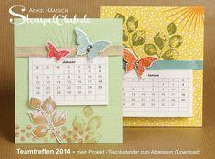 Leipzig stempelt - mit Stampin' Up!®: Stampin' Up! Teamtreffen 2014 - die Projekte - Minkalender zum Abreissen