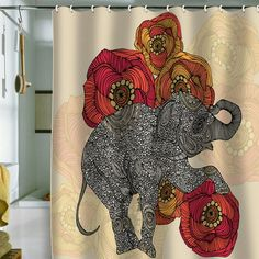I AM SO INTO THIS FOR THE GUEST BATH!!!    I PINNED THIS ROSEBUD SHOWER CURTAIN FROM THE VALENTINA RAMOS EVENT AT JOSS AND MAIN!
