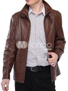 Vintage Tan Leather Zipper Mens Leather Jacket. See More Mens Leather Jackets at http://www.ourgreatshop.com/Men-039-s-Leather-Jackets-C781.aspx