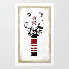 Jiu-Jitsu Black Belt Art Print