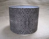 Lamp Shade Drum Lampshade Pendant Python Snake Print in Brown and Tan