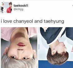 If you turn upside down it's Baekhyun and Jungkook O_O