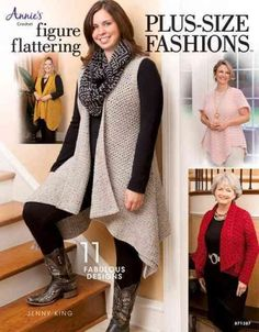 Today's fashions are designed to flatter a full-size woman in this wonderful guide to creating plus-size clothes and accessories. Patterns for tunics, vests, cardigans, wraps, a hat, and fingerless gl