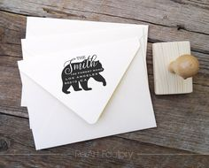 Forest Bear Family Return Address Stamp Custom Return Address Stamp, Business Stationary, Custom Book, Custom Stamps, Custom Packaging, Family Gifts, House Warming, Personalized Gifts, Handmade Items