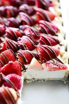 Easy Slab Pies for a Crowd: Strawberry Cream Slab Pie