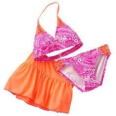 Zeroxposur Oops A Daisy One Piece Swimsuit Set Girls 7