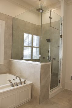 Heavy Glass Shower Door with channel and clips.