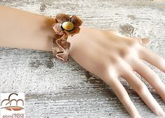 Handmade/forged Copper and Brass fold forming bracelet   by 100Pretentions