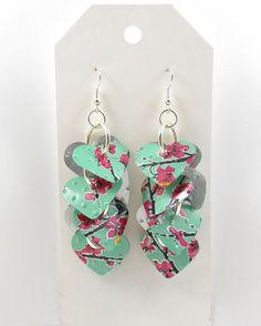 Sweet Heart Earrings.  Recycled Soda Can Art.  AZ Tea by jillmccp, $9.95