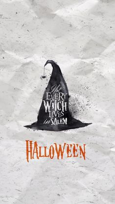 Halloween Witch Hat iPhone Wallpapers