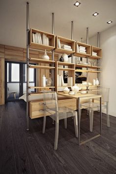 How to divide the room into zones: mobile partitions, screens, shelves, curtains