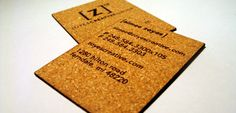Etched Cork Business Cards