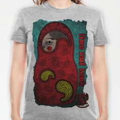 Paisley Matryoshka/Nesting Doll T-shirt