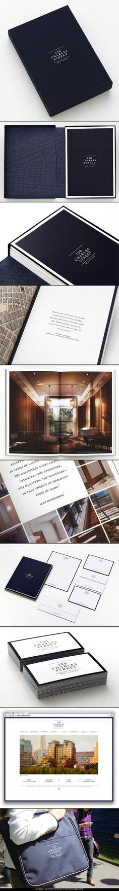 Branding of 150 Charles Street by Pentagram (Creative Director: Michael Bierut / Designer: Jesse Reid) Design Layouts, Brochure Design, Michael Bierut, Property Branding, Editorial Design, Creative Director, Brand Identity, Real Estate