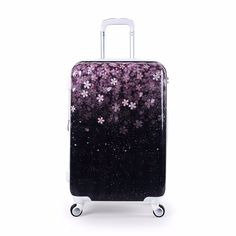 d505b7806 Womens Hardside Sakura Floral Luggage Expandable Lightweight Suitcase  Black) ** Continue with the details at the image link.