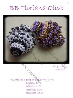 Several beaded bead tutorials on this page.