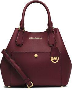 MICHAEL Michael Kors Greenwich Large Grab Bag, Merlot/Black