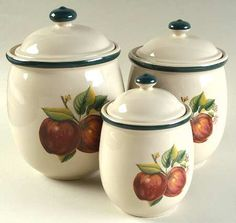 APPLES (CASUALS)   Canisters~Have These. Kitchen Canister SetsCeramic ...