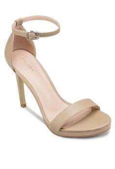 Buy ZALORA BASICS High Heel Sandals With Ankle Strap | ZALORA ...