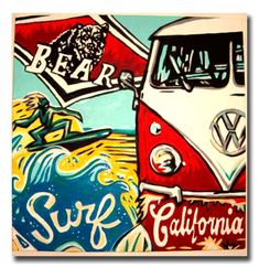 Surf California VW camper