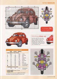 crafts cars trucks  planes cross stitch images   cross stitch stitch