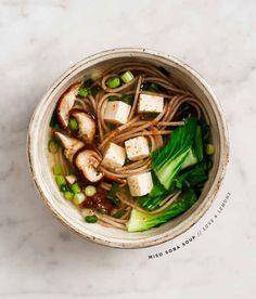 Miso Shitake Soba Soup