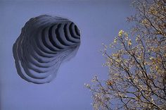 """""""Scott Hazard tears and layers photographs to create these beautiful wormholes into other worlds."""" Quoted from link"""