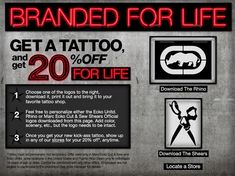 Would You Get A Tattoo Of This Logo For 20 Percent Off For Life?
