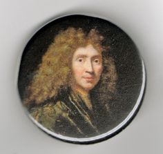 Moliere Playwright Portrait 1.25 inch Button by BuyTheLightOfTheMoon on Etsy https://www.etsy.com/listing/69855366/moliere-playwright-portrait-125-inch