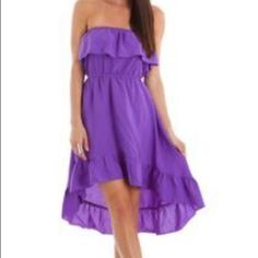 Make An Offer Poetry Hi Lo Dress Size S